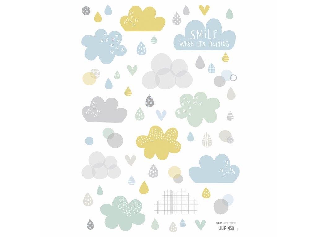 "Samolepka LILIPINSO Cloud and rain ""A3"""