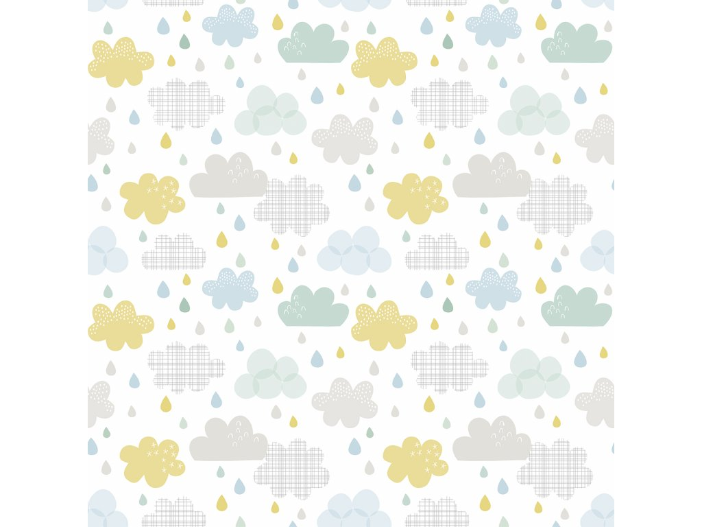 Tapeta LILIPINSO Drops and clouds 50 cm x 10 m