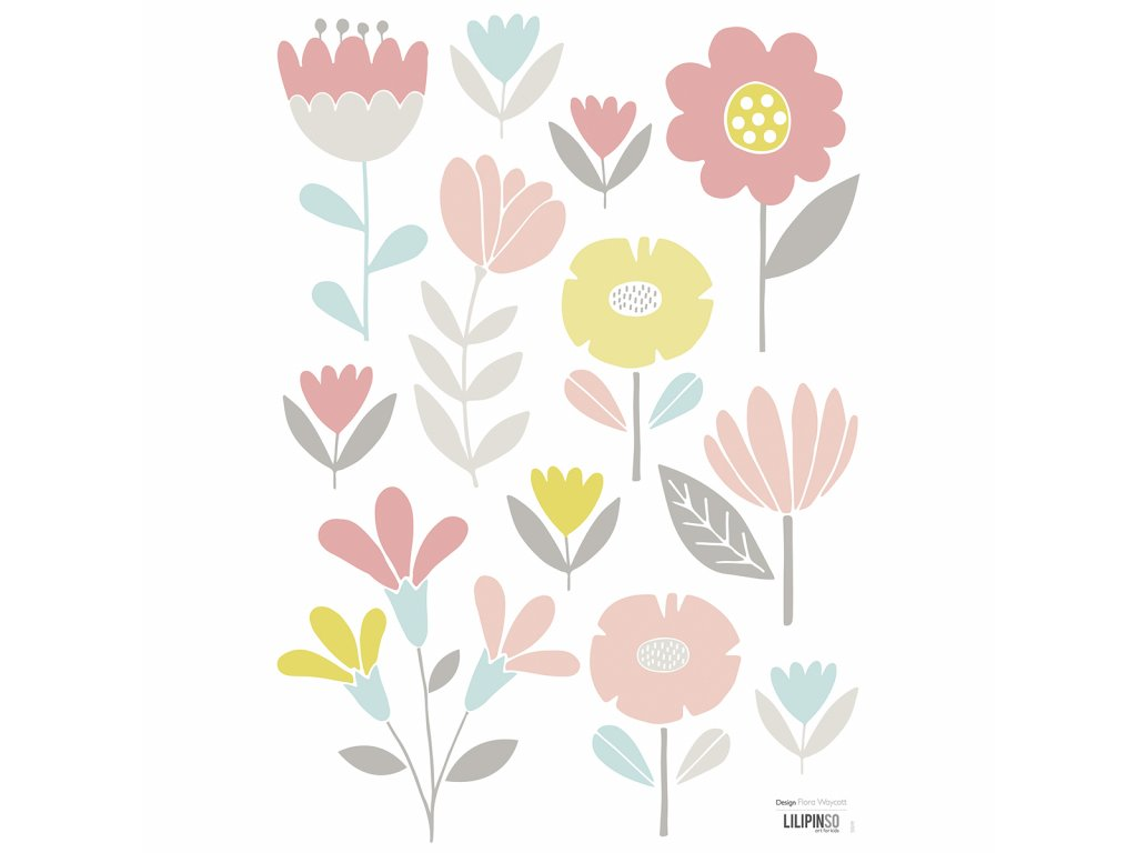 "Samolepka LILIPINSO Sweet bunnies fleurs ""A3"""