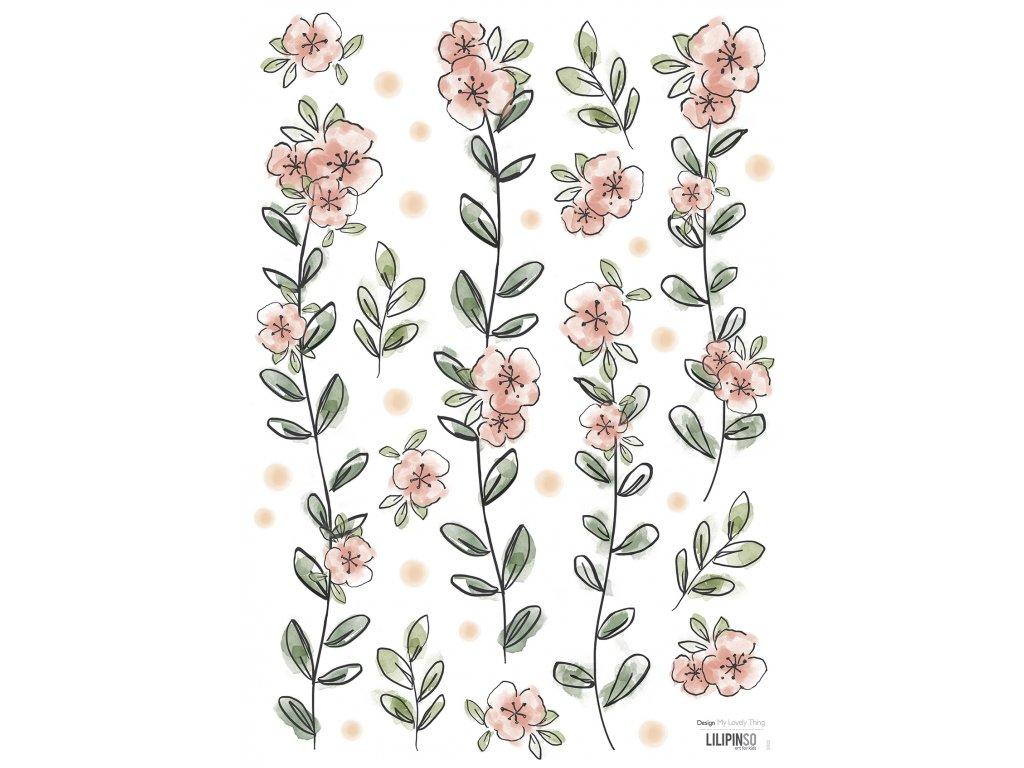 "Samolepka LILIPINSO Flowers ""A3"""