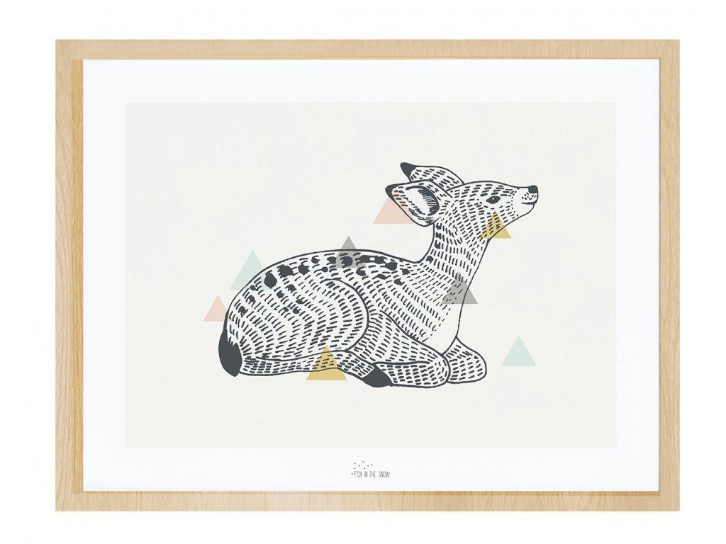 Zarámovaný plakát LILIPINSO Enchanted Deer