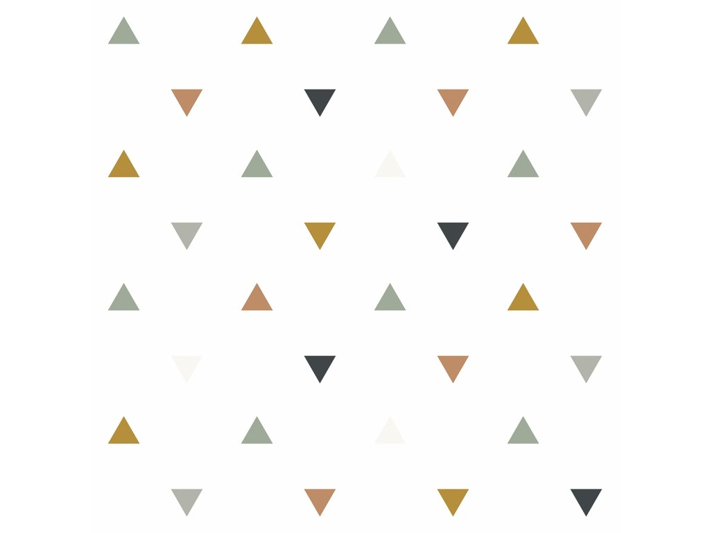 Tapeta LILIPINSO Triangles blue, grey, beige 50 cm x 10 m