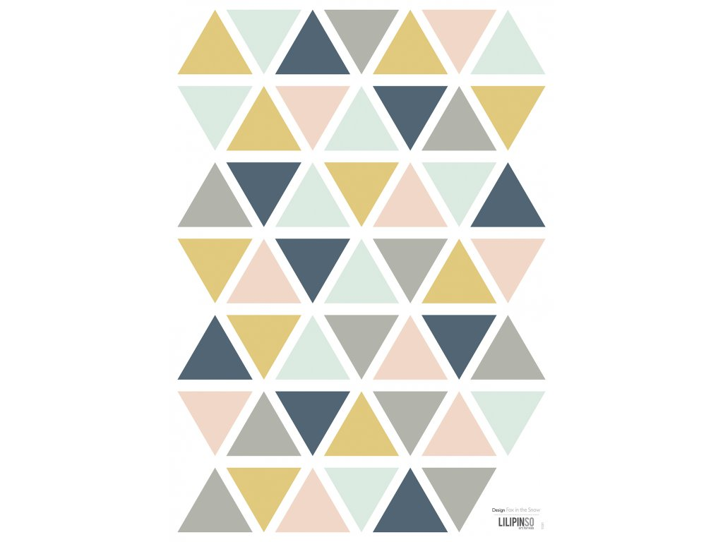 "Samolepka LILIPINSO Triangles girl ""A3"""