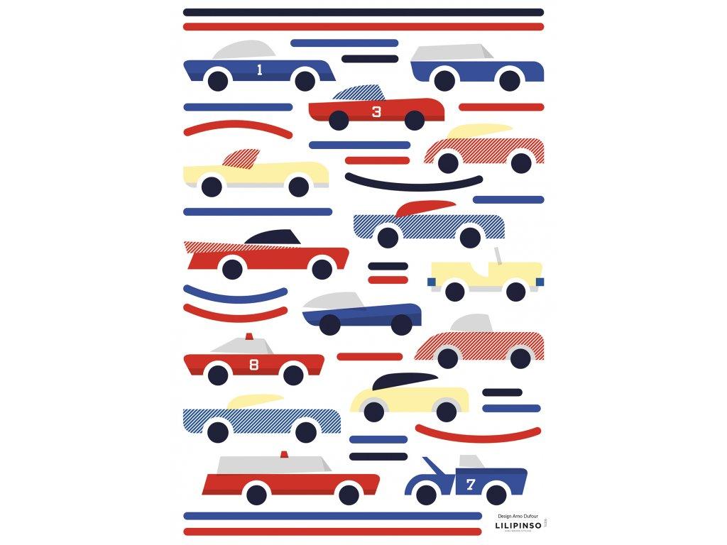 "Samolepka LILIPINSO Small cars ""A3"""