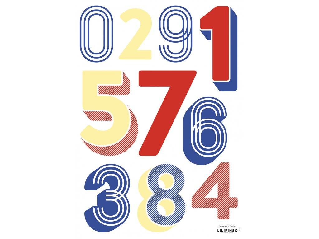 "Samolepka LILIPINSO Numbers ""A3"""