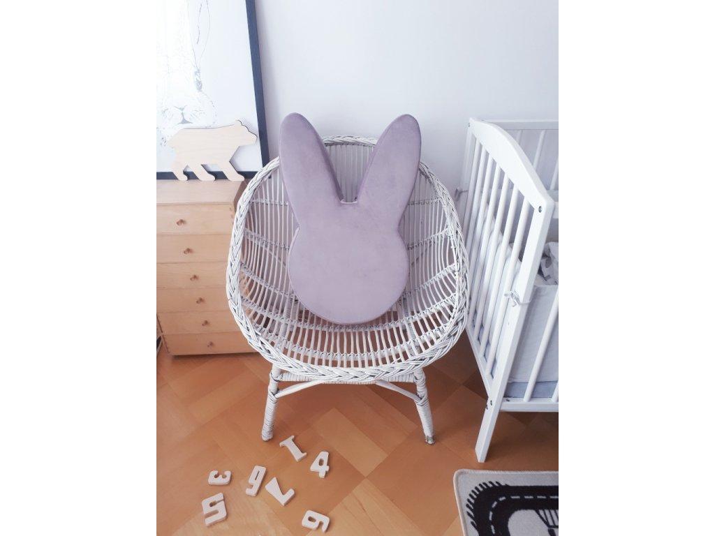 Dětský puf Ba bam ve tvaru zajíce Lilac