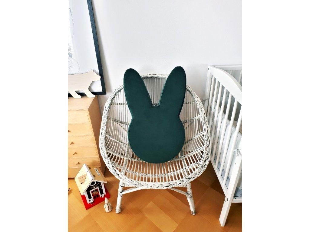 Dětský puf Ba bam ve tvaru zajíce Bottled green