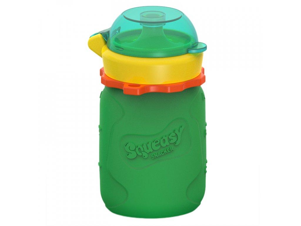 Silikonová kapsička Squeasy Snacker 104ml zelená