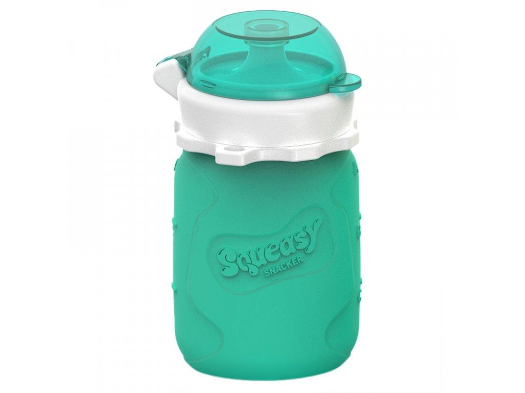 Silikonová kapsička Squeasy Snacker 104ml aqua