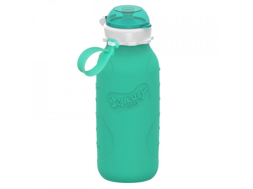 Silikonová láhev Squeasy Sport 480 ml aqua