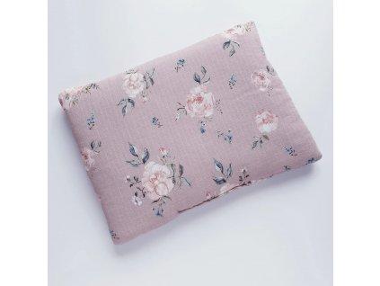 Poduszka muslinowa roze