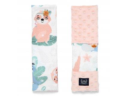 Chrániče na bezpečnostní pásy La Millou Yoga sloths powder pink