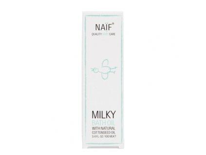 Přírodní mléčný koupelový olej Naif pro děti a miminka