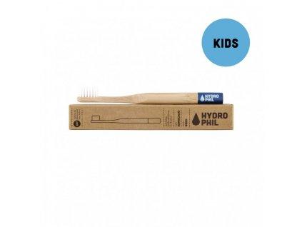 Bambusový kartáček pro děti Hydrophil soft modrý