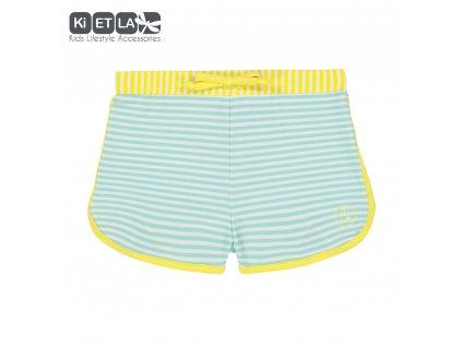 KiETLA plavkové šortky s UV ochranou 12 měsíců zeleno-žluté