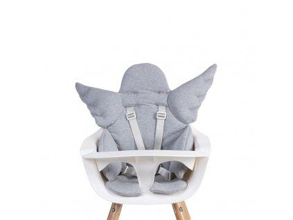 Sedací podložka do dětské židličky Childhome Angel Jersey Grey