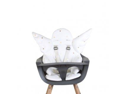 Sedací podložka do dětské židličky Childhome Angel Gold Dots