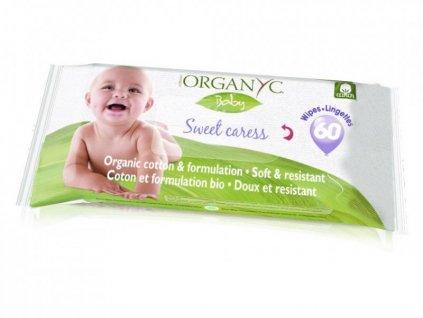 Dětské vlhčené hygienické ubrousky Organyc BIO (60 ks)