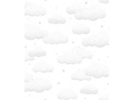 papier peint bebe nuage gris h0531