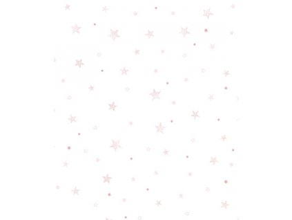 papier peint bebe fille rose etoile h0533