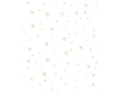 papier peint etoiles or bebe h0532