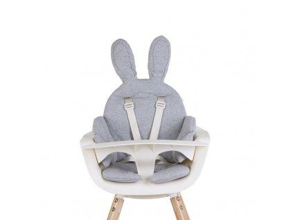 Sedací podložka do dětské židličky Childhome Rabbit Jersey Grey