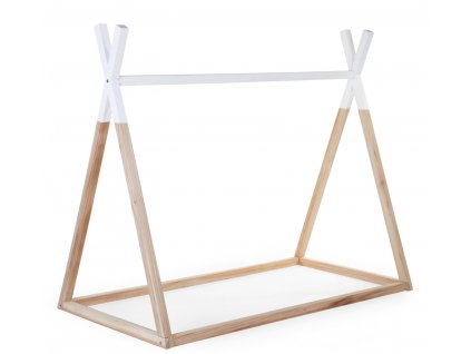 Postel Childhome Tipi stan konstrukce Natural White 70x140cm