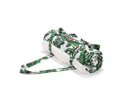 Luxusní pikniková deka La Millou Ecru & Evergreen tiger