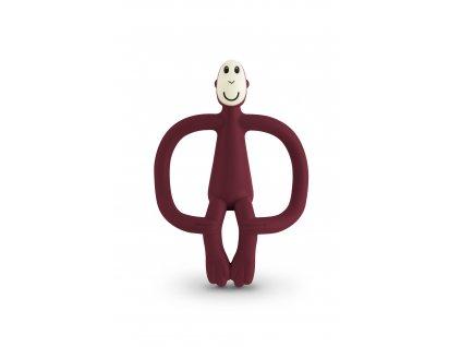 Kousátko a zubní kartáček Matchstich Monkey Claret
