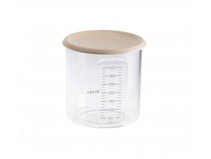 Beaba Kelímek na jídlo 420ml pudrový