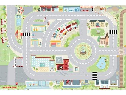 Le Toy Van Hrací koberec PLAYMAT Moje první město 80x120cm