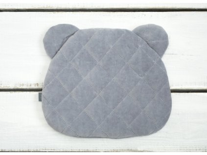 Sleepee Polštář Royal Baby Teddy Bear Pillow šedá