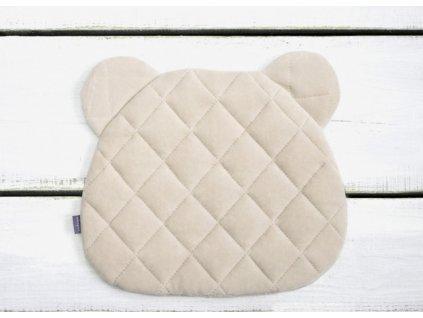 Sleepee Polštář Royal Baby Teddy Bear Pillow písková
