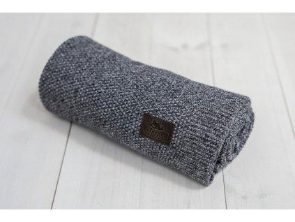 Sleepee Bambusová deka Sleepee Bamboo Touch Blanket černá a bílá
