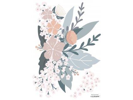 "Samolepka LILIPINSO FLOWER COMPOSITION  ""A3"""