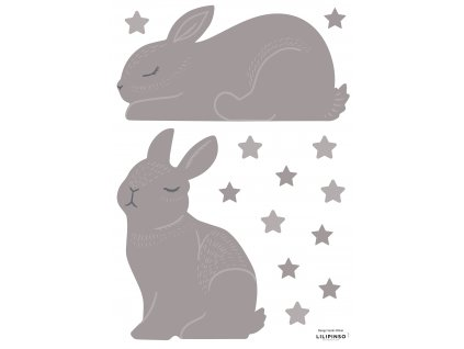 "Samolepka LILIPINSO RABBITS TAUPE COLOR  ""A3"""