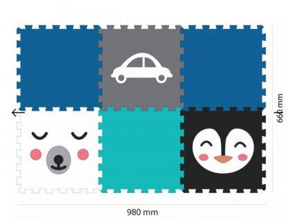 Screenshot 2019 09 17 Minideckfloor podlaha 6 dílů medvěd, tučňák a auto Pěnové hračky
