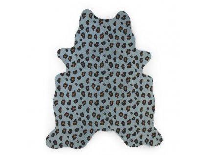 Childhome Koberec Leopard modrý 145x160 cm