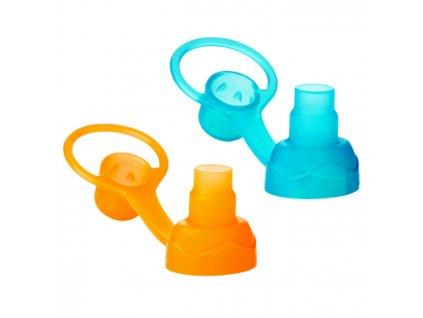 Náustek ChooMee s membránou proti rozlití 2ks oranžová/modrá