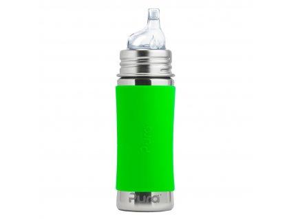 Nerezová lahev PURA s náustkem 325 ml zelená