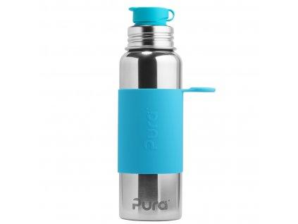 Nerezová lahev PURA se sportovním uzávěrem 850 ml modrá