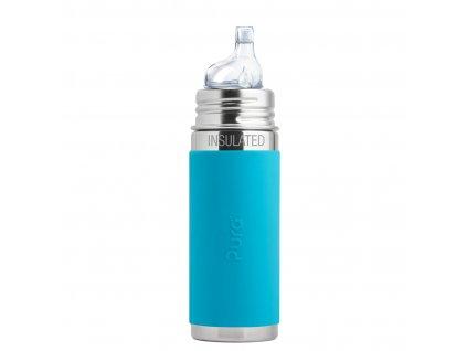Nerezová TERMO lahev Pura s náustkem 260 ml modrá