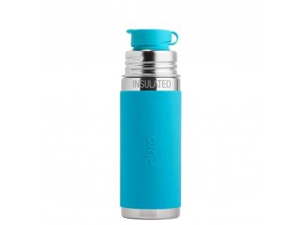 Nerezová TERMO lahev Pura se sportovním uzávěrem 260 ml modrá