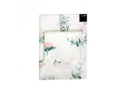 Bavlněné ložní povlečení 135x100 cm Luční kvítí růžové 4