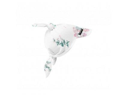 Bavlněný šátek na hlavu Luční kvítí růžové