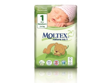 Plenky Moltex nature no.1 Newborn 2-4 kg (23 ks)