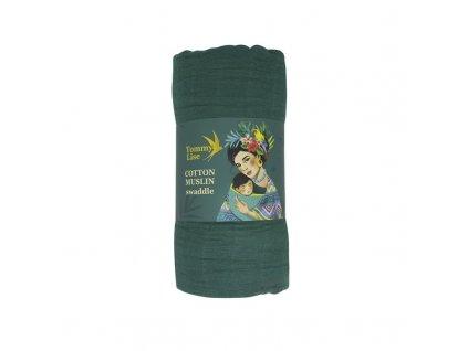 Tommy Lise Bavlněná mušelínová plena Mangrove Green 120x120cm