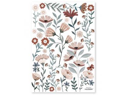 s1409 stickers fleurs deco lilipinso
