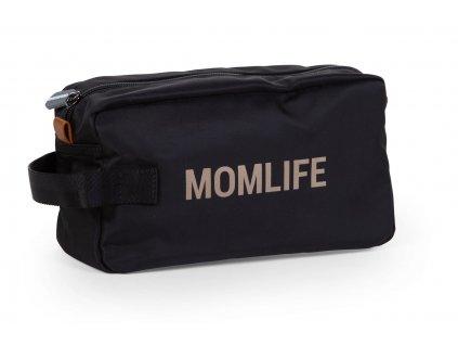 Childhome Toaletní taška Momlife Black Gold