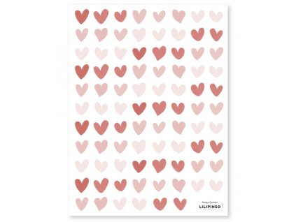 s1403 stickers coeurs rose rouges